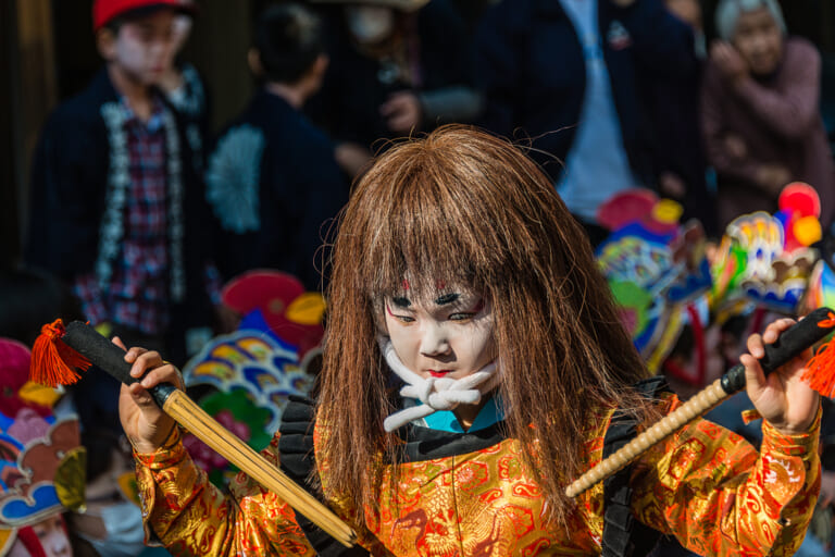 岸剣神社の大神楽  スライダー画像1