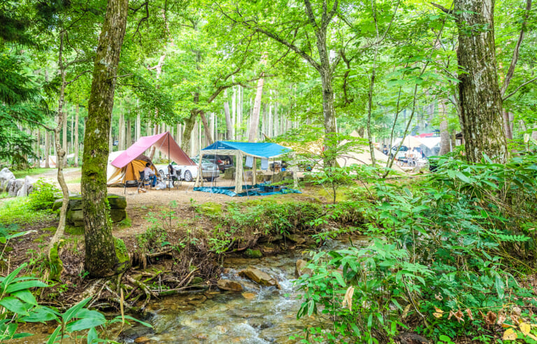 ひるがの高原キャンプ場 スライダー画像1