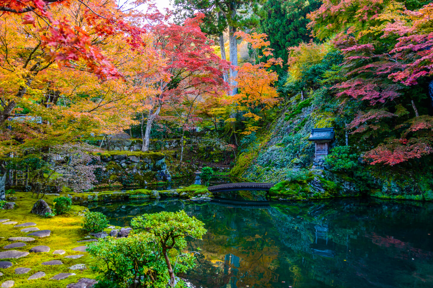 慈恩禅寺 荎草園の紅葉 スライダー画像3
