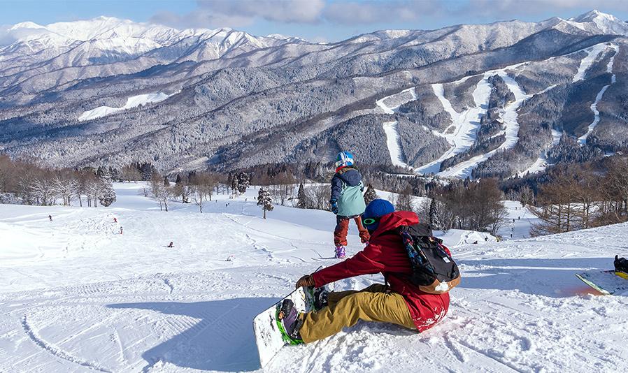 スノーリゾート郡上でスキーデビューコース