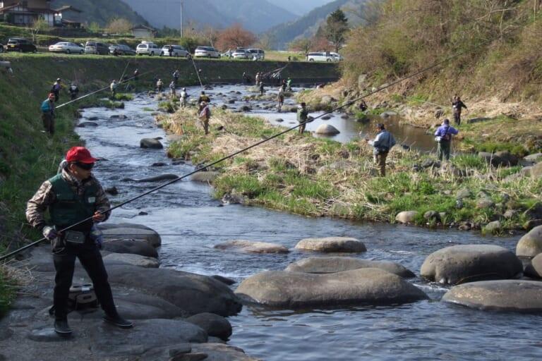 明宝 渓流釣り大会