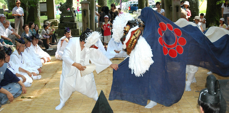 明建神社と七日祭