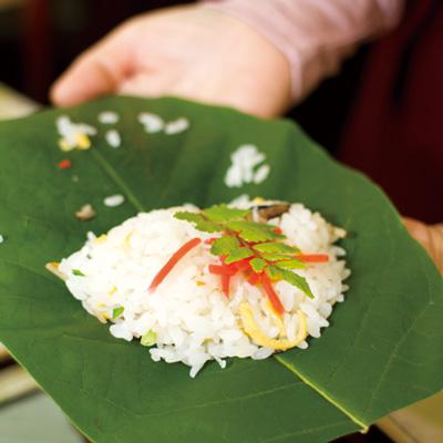郡上の食育体験「朴葉寿司」
